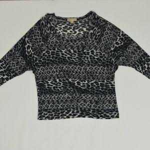 Michael Kors Regular XL Black   Blouse Rayon Solid